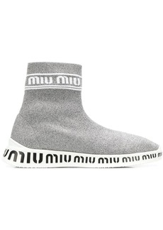 Miu Miu knit hi-top sneakers