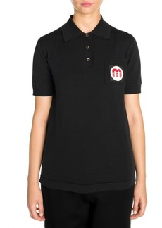 Miu Miu Knit Patch Pocket Polo Shirt