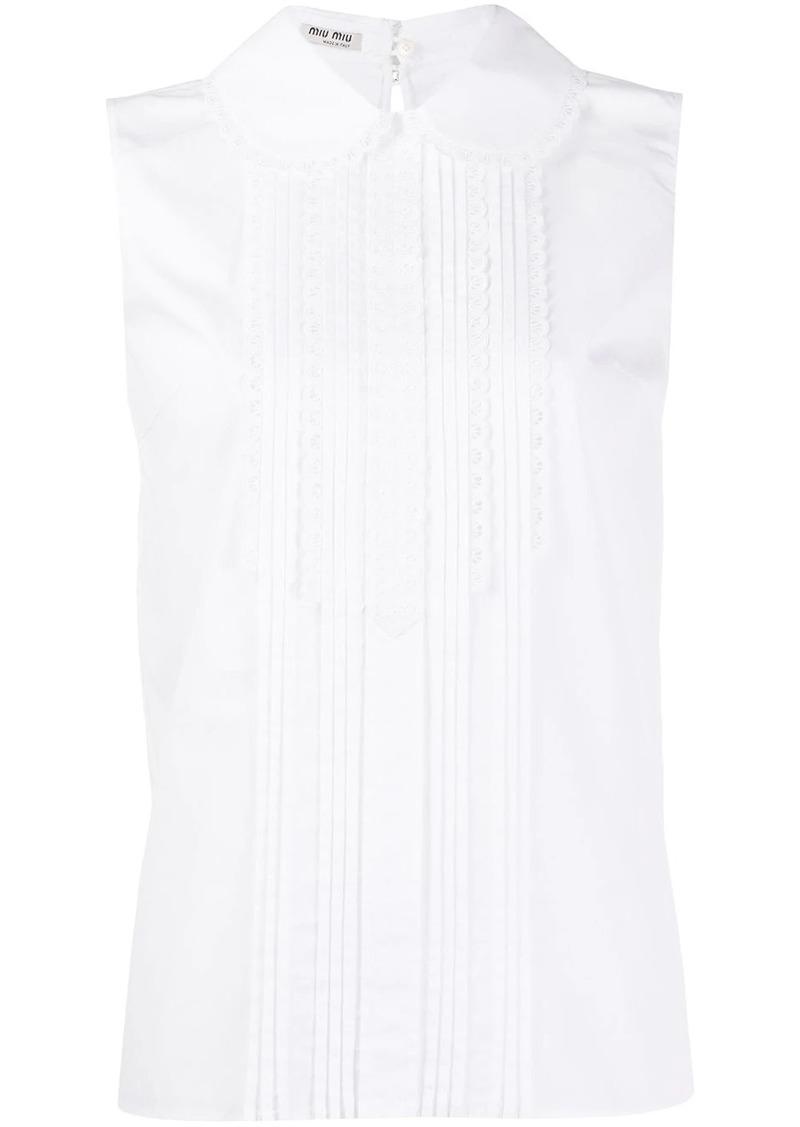 Miu Miu lace bib blouse