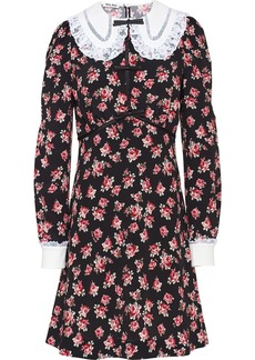 Miu Miu lace collar floral dress