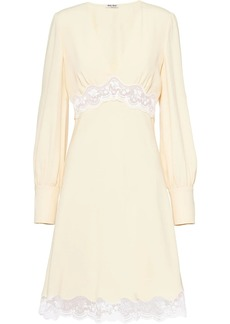 Miu Miu lace detail short dress