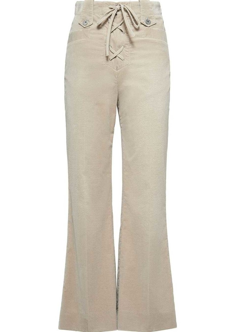 Miu Miu lace-up flared trousers