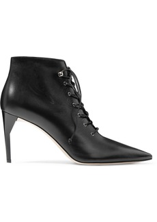 Miu Miu Lace-up Leather Ankle Boots