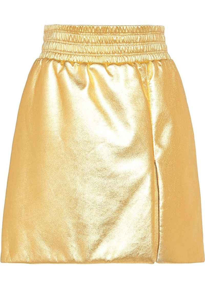 Miu Miu laminated A-line skirt