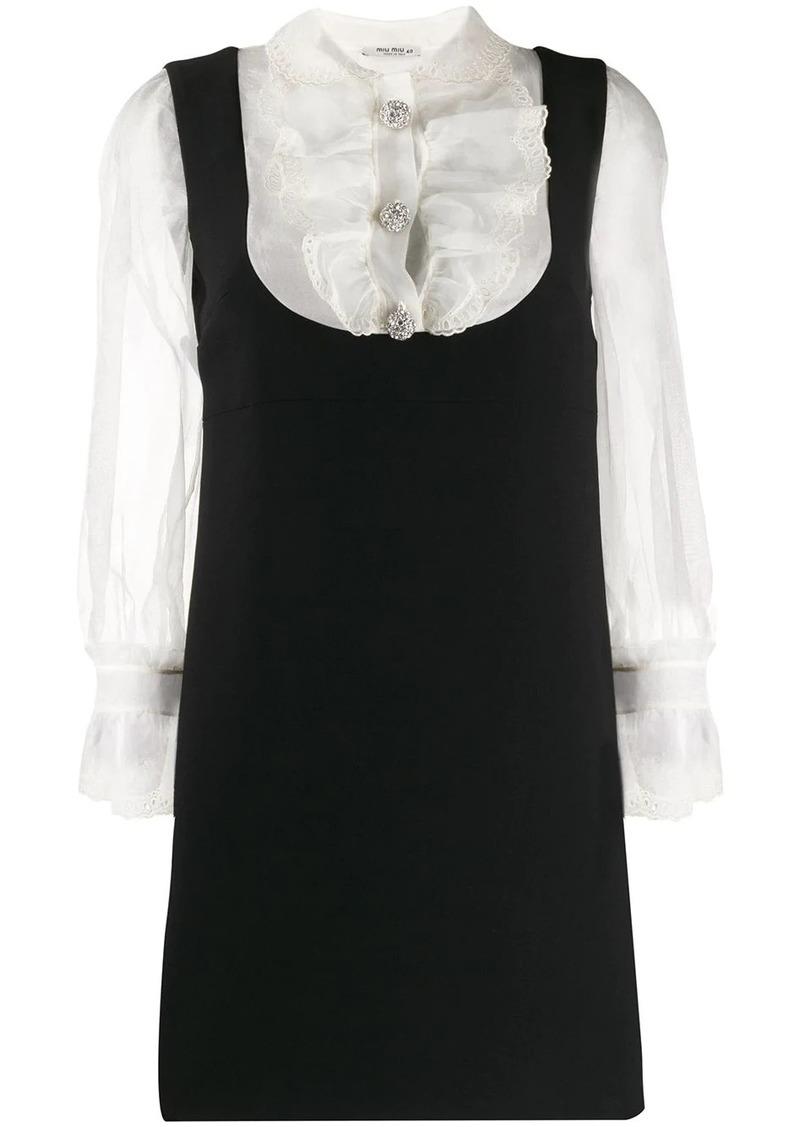 Miu Miu layered shirt dress