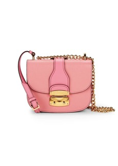 Miu Miu Leather Chain Saddle Bag
