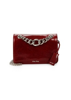 Miu Miu Leather Chain Shoulder Bag