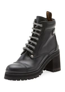 Miu Miu Leather Platform Hiker Boots