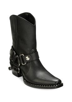 Miu Miu Leather Strap Moto Booties