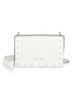 Miu Miu Matelasse Leather Studded Crossbody Bag