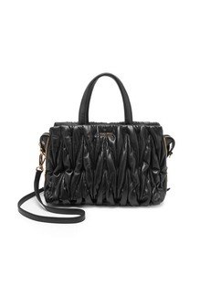 Miu Miu Matelasse Leather Satchel Bag