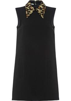 Miu Miu leopard collar mini dress