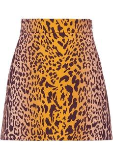 Miu Miu leopard pattern skirt