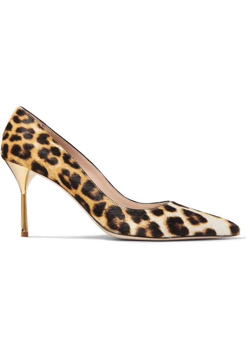 Miu Miu Leopard-print Calf Hair Pumps
