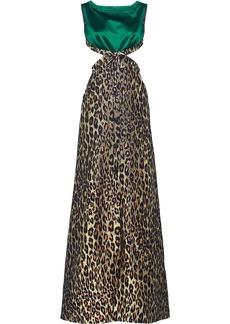 Miu Miu leopard print maxi dress
