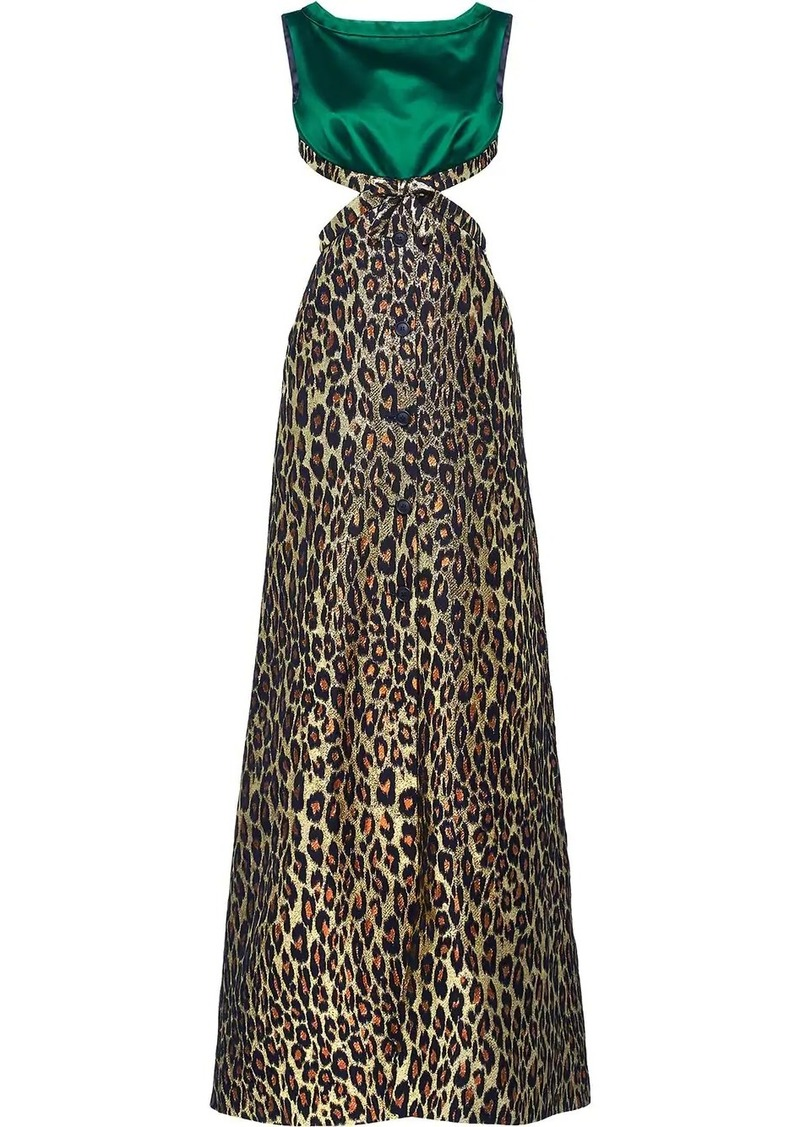 Miu Miu leopard print maxi dress