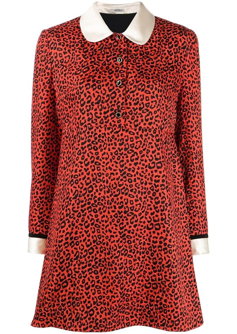 Miu Miu leopard-print shift dress