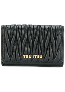 Miu Miu logo card holder