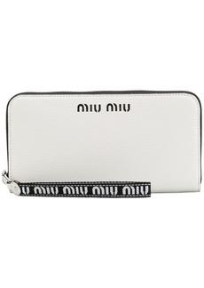 Miu Miu logo continental wallet