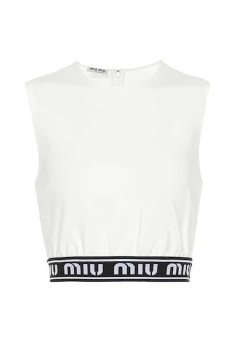 Miu Miu Logo crop top