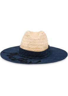 Miu Miu logo embroidered sun hat