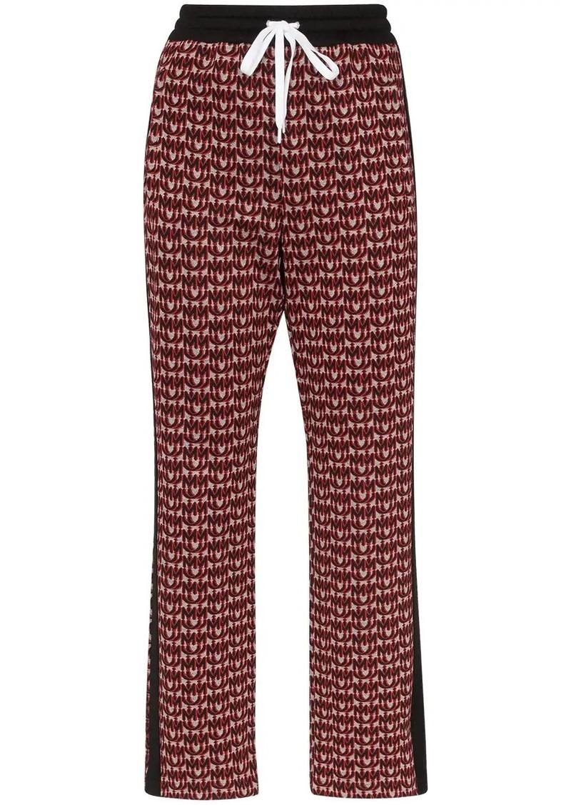 Miu Miu logo-jacquard track pants