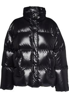 Miu Miu logo panel puffer jacket