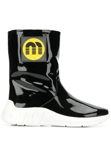 Miu Miu logo patch ankle boots