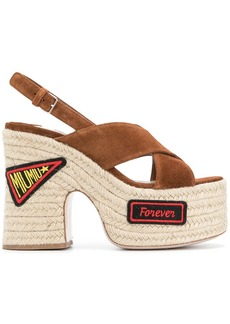 Miu Miu logo patch sandals