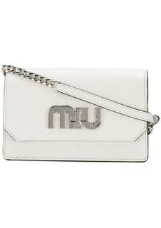 Miu Miu logo plaque shoulder bag