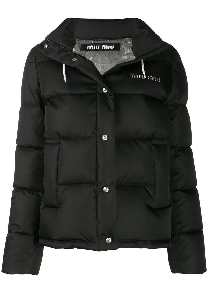 Miu Miu logo puffer jacket