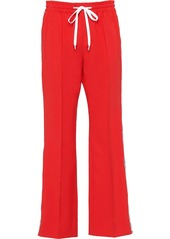 Miu Miu logo side stripe flared trousers