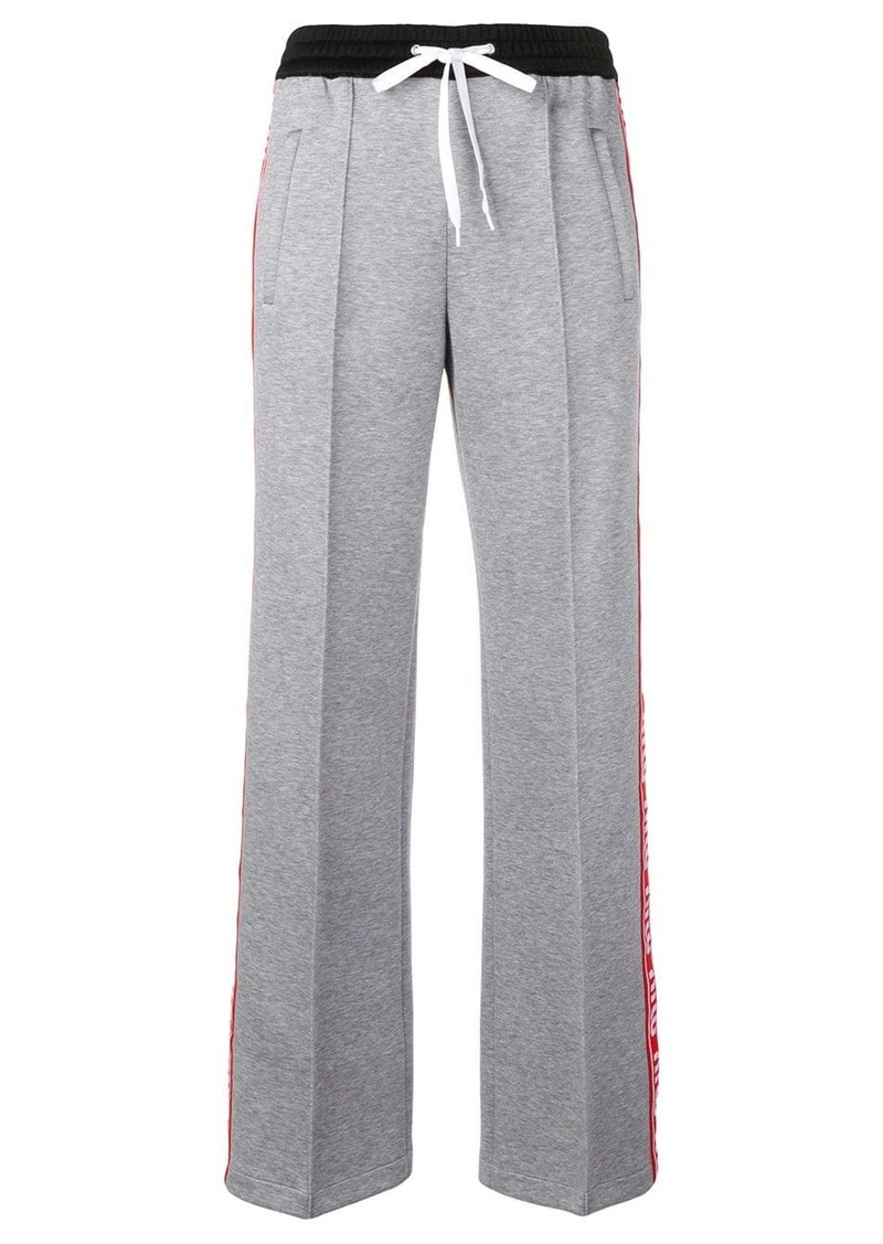 Miu Miu logo tape track trousers