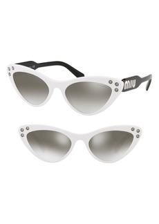 Miu Miu Logomania 55mm Cat Eye Sunglasses