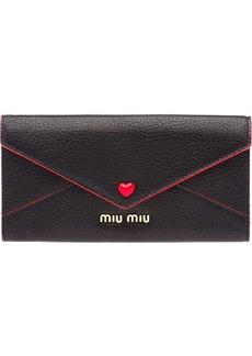 Miu Miu Love Logo wallet
