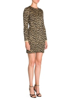 Miu Miu Lurex Leopard Print Bodycon Dress