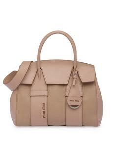 Miu Miu Madras and leather handbag