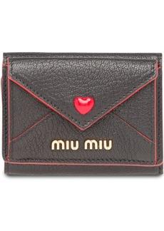 Miu Miu Madras heart wallet