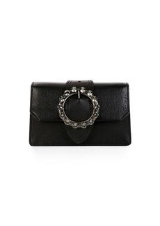 Miu Miu Madras Jewels Leather Buckle Clutch Bag
