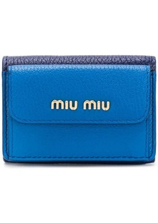 Miu Miu Madras leather wallet