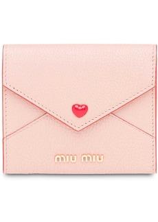 Miu Miu Madras love envelope card holder