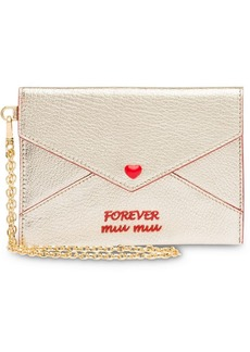 Miu Miu Madras Love envelope wallet