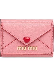Miu Miu Madras Love wallet