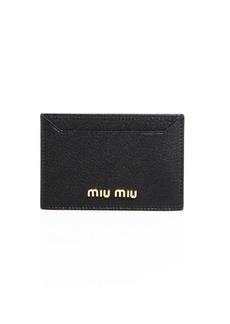 Madras Metallic Leather Card Case