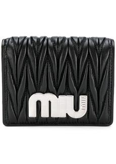 Miu Miu matelassé bifold wallet