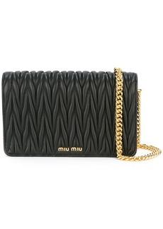 Miu Miu matelassé chain wallet