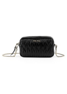 Miu Miu Matelassé Convertible Leather Belt Bag