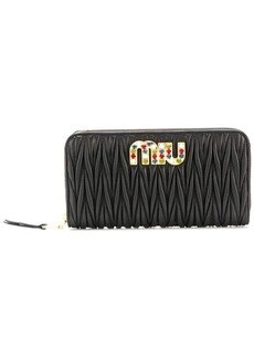 Miu Miu Matelassé embellished wallet