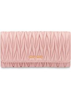 Miu Miu Matelassé flap wallet