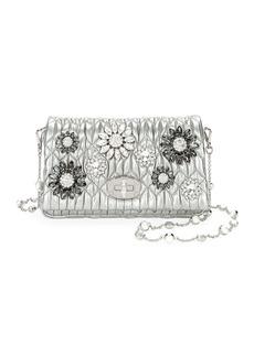 Miu Miu Matelasse Flowers Shoulder Bag